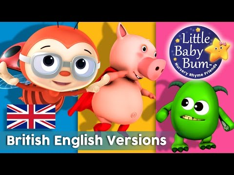 Nursery Rhymes | All British Versions! | 41 Minutes Compilation from LittleBabyBum!