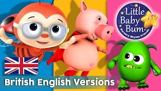 Nursery Rhymes | British English Versions! | 41 Minutes Compilation from LittleBabyBum!