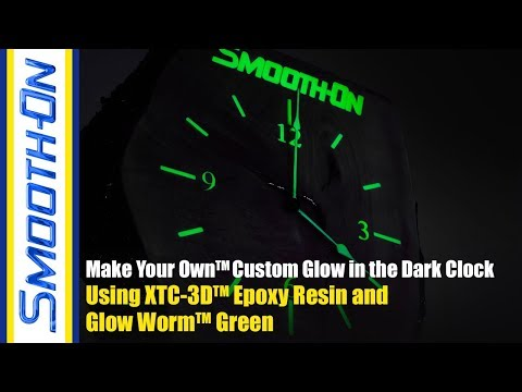 How To Make a Glow In The Dark Wooden Clock Using XTC-3D™ Epoxy Resin