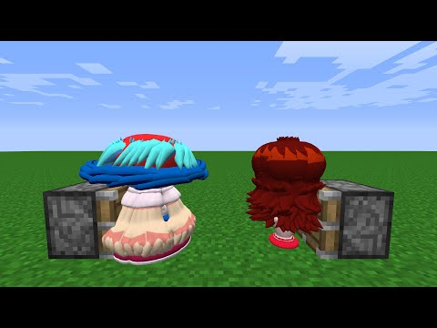 Boyfriend x 100 + Girlfriend x 100 = ???   FNF Characters in Minecraft