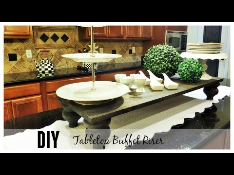 The Look For Less | DIY Tabletop Buffet Riser
