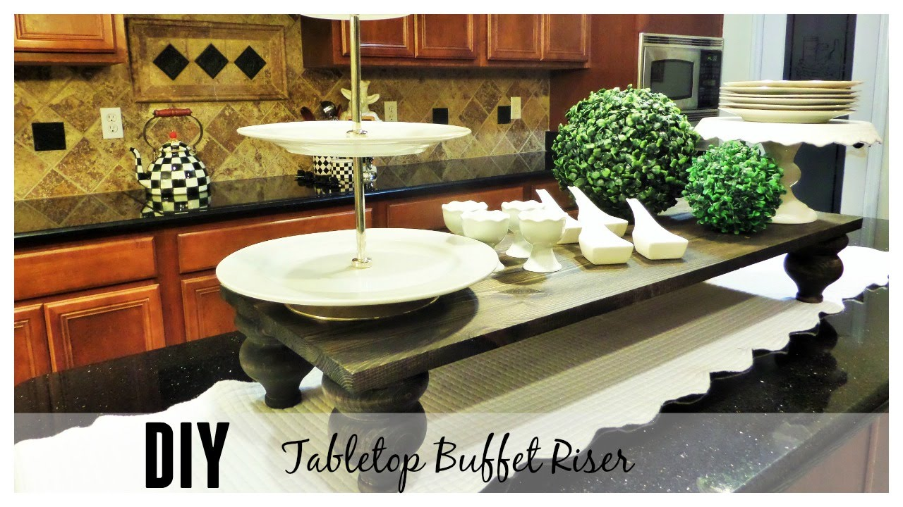 The Look For Less Diy Tabletop Buffet Riser Youtube