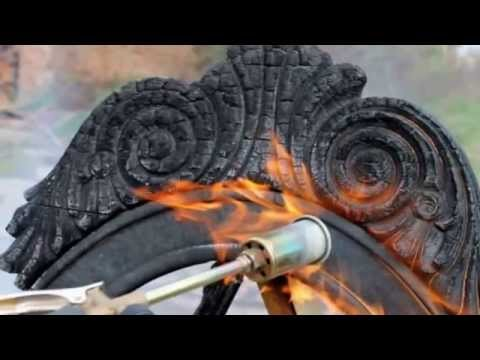 Stunning charred wood furniture design  YouTube