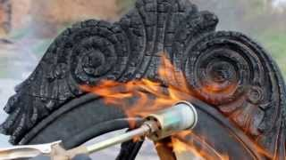 Stunning charred wood furniture design