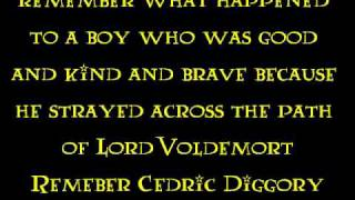 Watch Ministry Of Magic Pensieve Diggory video