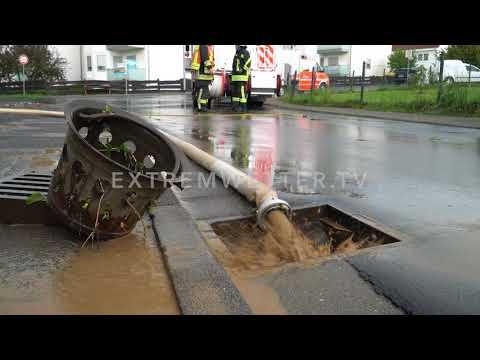 Schweres Unwetter - Hagel und Starkregen - Lieblos, Hessen - EWTV ID 721