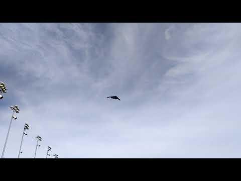 B-2 Spirit Stealth Bomber Flyover at Kansas Speedway October 2017
