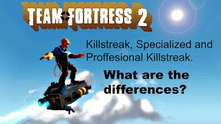 TF2: Killstreak vs. Specialized Killstreak vs. Proffesional Killstreak Weapons (Comparison)