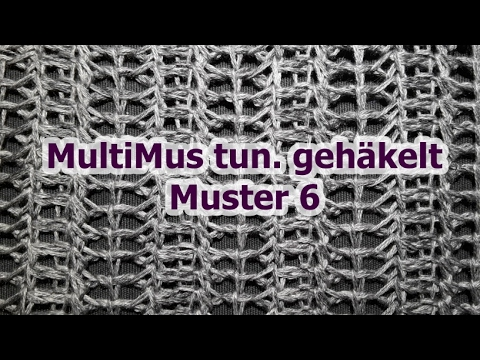 Multimus Tunesisch Gehäkelt Muster 6 Veronika Hug Youtube