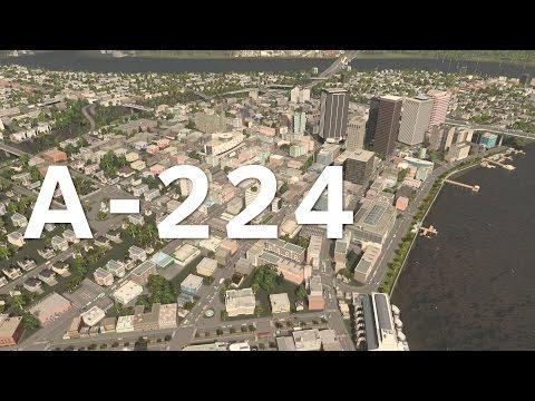 Cities Skylines Drive : Alenda Highway A-224 EAST
