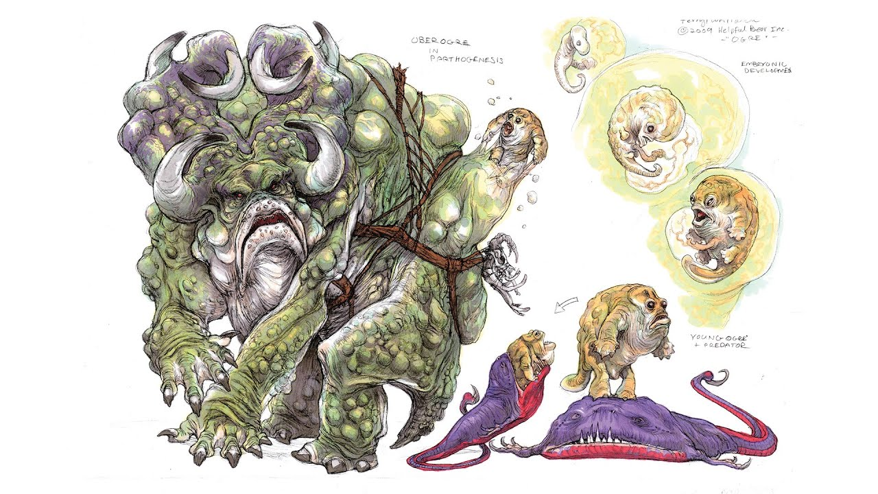 creature design with terryl whitlatch 4 toad ogre creature concept
