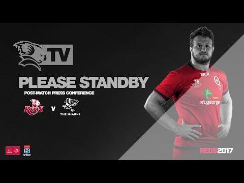 St.George Queensland Reds v Sharks: Live Press Conference