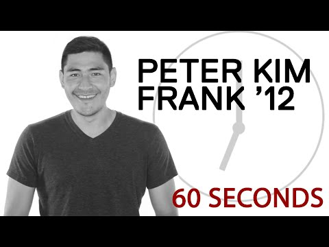 60 Seconds With Peter Kim Frank '12