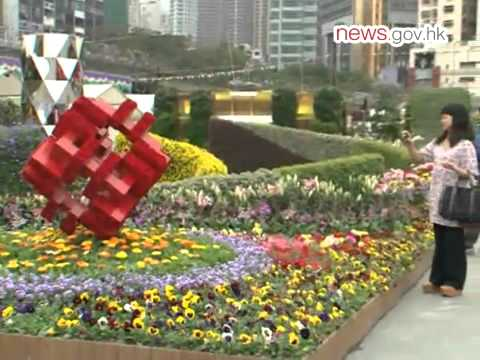 Flower show opens (14.3.2013)