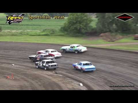 Sportsman Heat/Feature - Rapid Speedway - 8/3/18