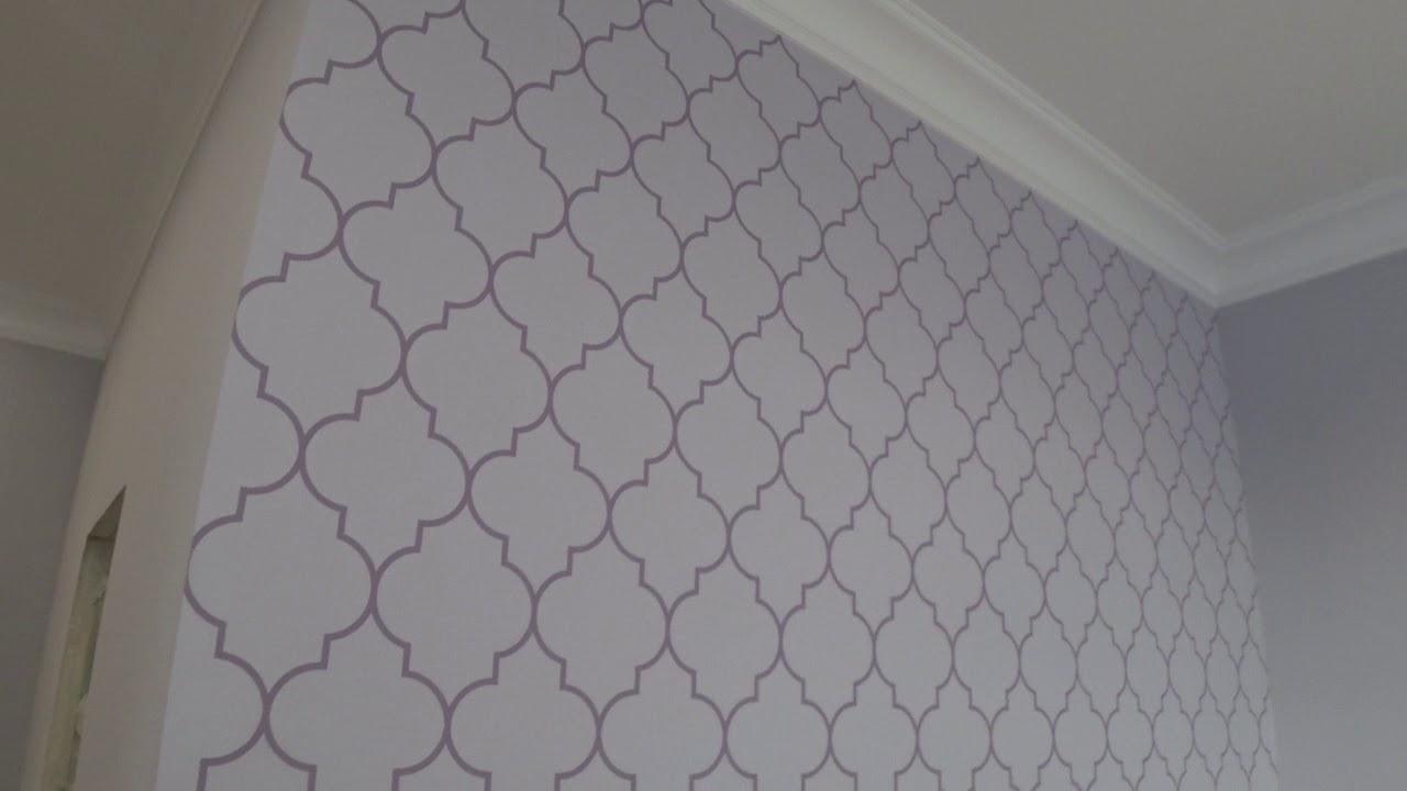 Окраска по трафарету. Декоративное покрытие стен Скин. Художественная роспись