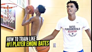 How #1 Ranked Sophomore Emoni Bates Works On His Game!? FULL Exclusive Workout!