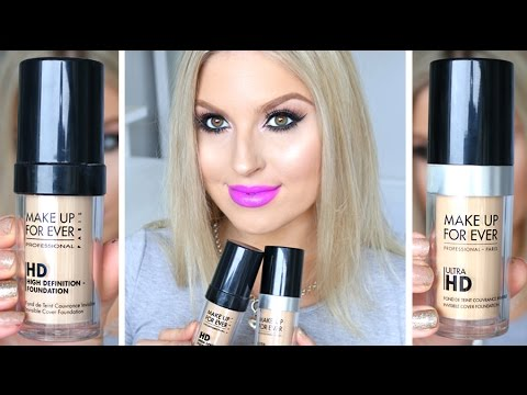 First Impression Review & Comparison ♡ Make Up For Ever HD vs. Ultra HD