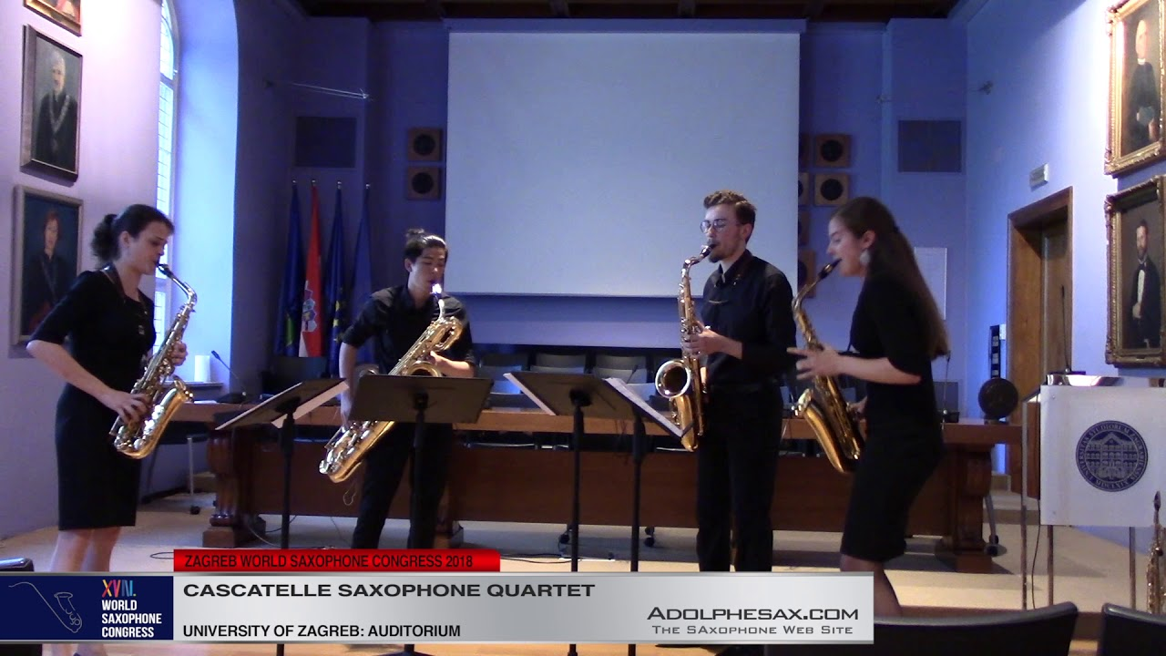 Saxophone Quartet by Rudolf Kelterborn    Cascatelle Saxophone Quartet   XVIII World Sax Congress 20