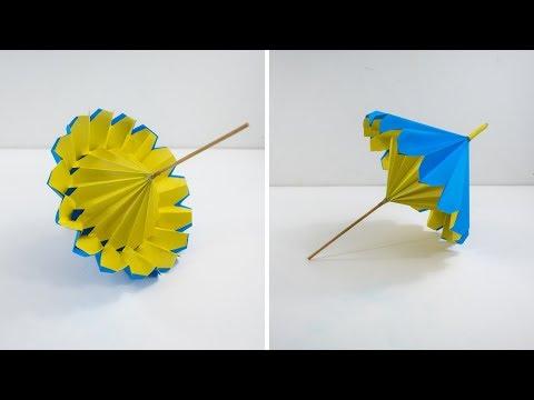 Paper Umbrella - How To Make Paper Umbrella That opens and Closes - Step By Step Process - #umbrella