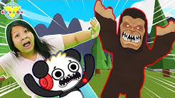 Ryan's Mommy FINDING BIG FOOTS CAVE in Roblox! Let's Play Roblox Bigfoot with Combo Panda