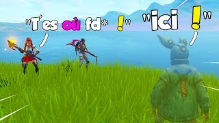 je troll une team de gros rageux en invisible ! FORTNITE Battle Royale