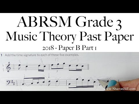 ABRSM Music Theory Grade 3 Past Paper 2018 B Part 1 With Sharon Bill