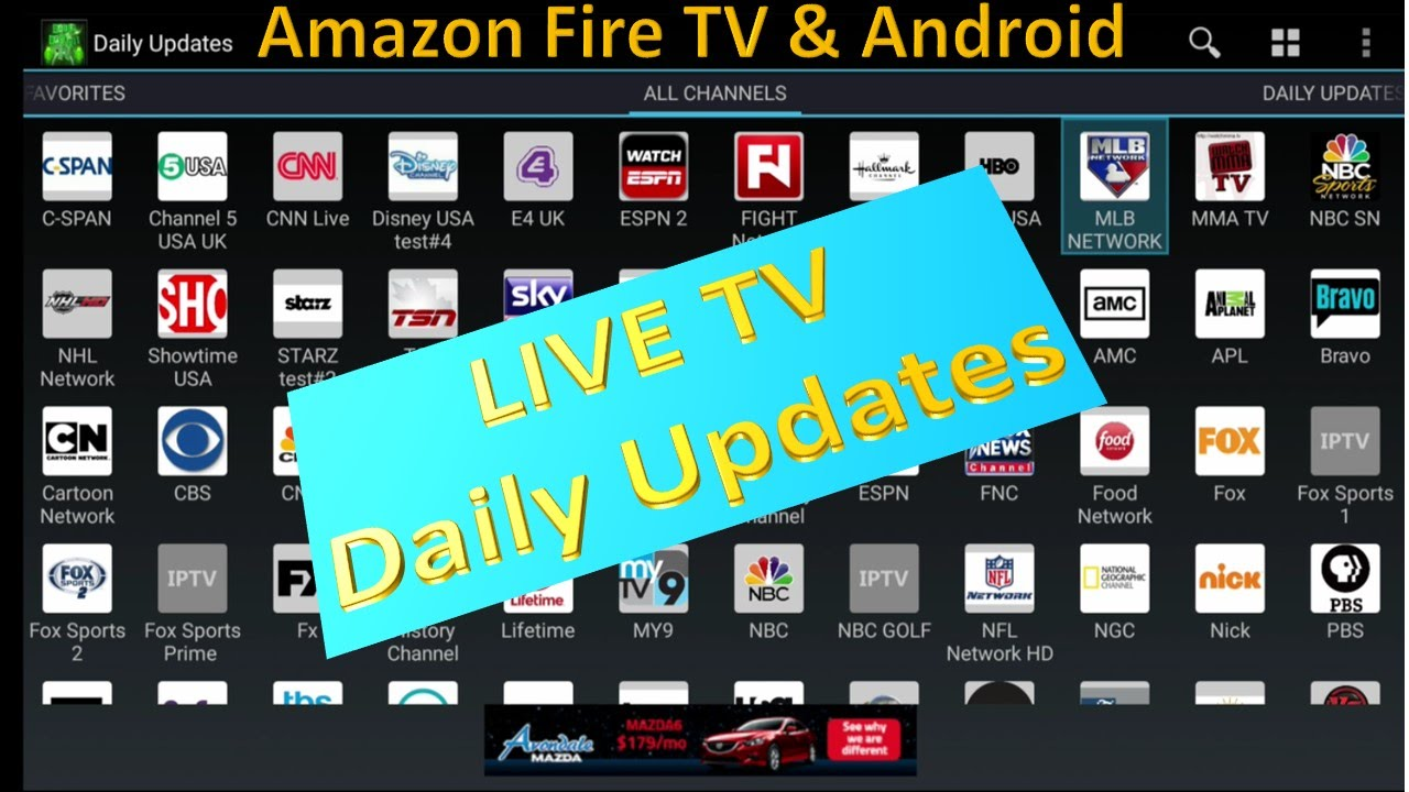 New 2016 Live Tv Application Daily Updates For Amazon Fire -4762