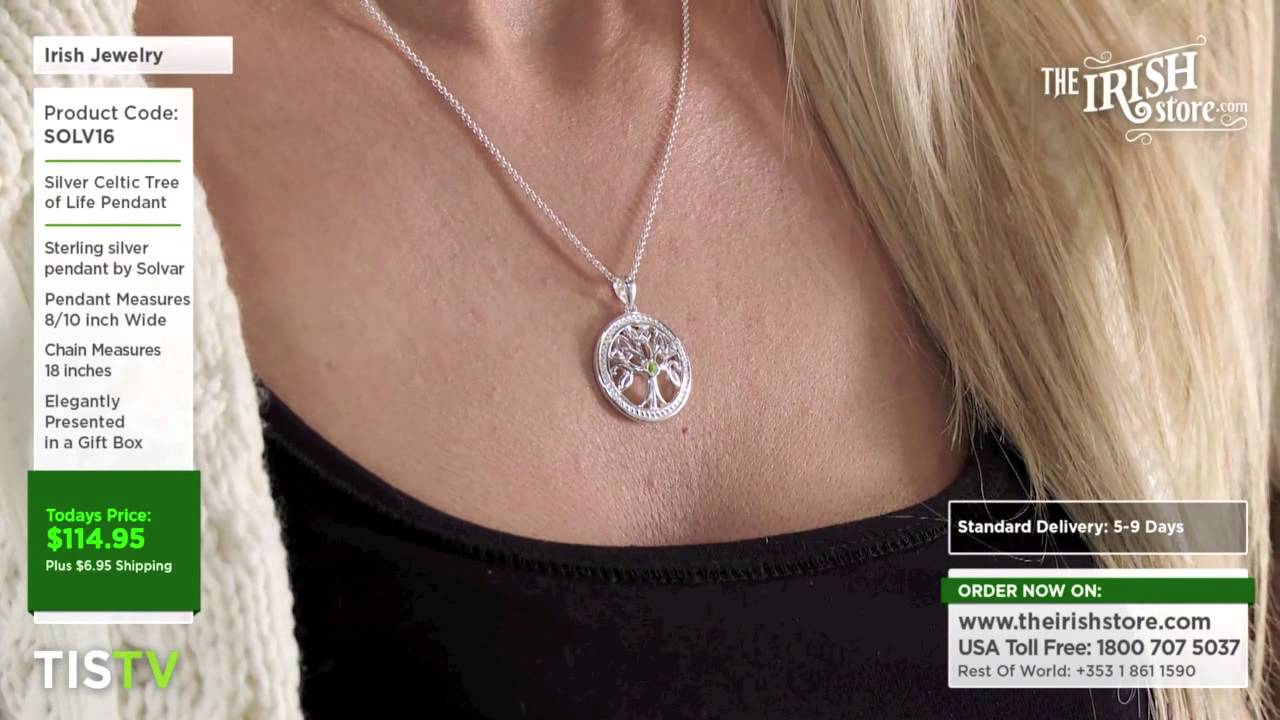Silver celtic tree of life pendant solv16 youtube silver celtic tree of life pendant solv16 mozeypictures Image collections