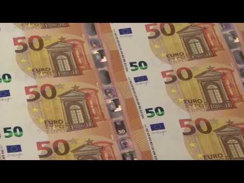Produktion des neuen 50 Euro Scheins