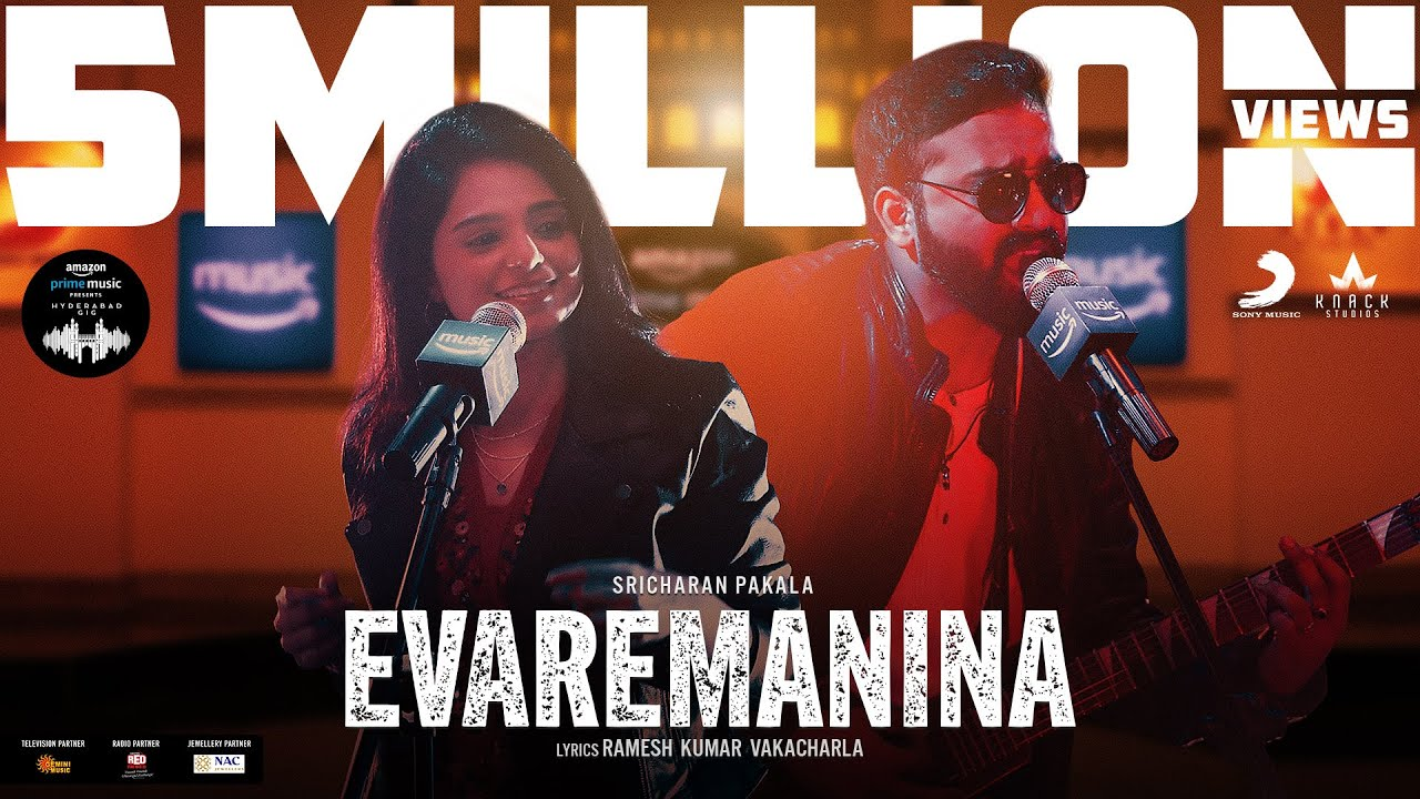 Evaremanina Video | Amazon Prime Music Hyderabad Gig  | Sricharan Pakala | Yamini Ghantasala