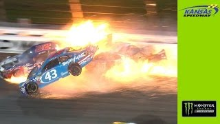Big wreck collects Patrick, Logano and Almirola