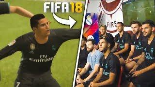 JUGADORES DEL REAL MADRID PROBANDO EL NUEVO FIFA 18!!!!!!!!!