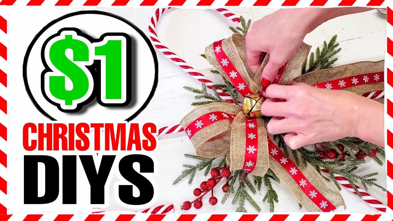 5 Cheap (NOT CHEESY) Dollar Store DIY Christmas Wreath Ideas