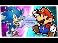 ARCHIE SONIC vs PAPER MARIO! (Sonic The Hedgehog vs Super Mario) | REWIND RUMBLE
