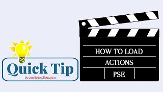How to Load an Action in Photoshop Elements
