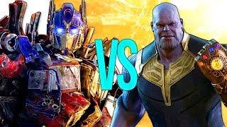 ТАНОС VS ТРАНСФОРМЕРЫ | СУПЕР РЭП БИТВА | Thanos Avengers ПРОТИВ Transformers Optimus