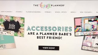 Looking at the new accessories from The Happy Planner!