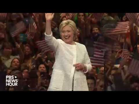 Watch: Hillary Clinton addresses supporters after clinching the nomination
