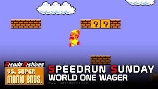 Arcade Archives Vs. Super Mario Bros - World One Wager | Speedrun Sunday