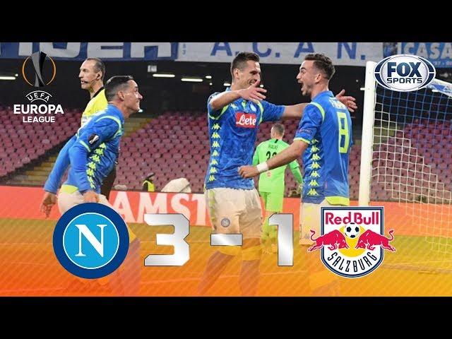 DEU NAPOLI! Veja os lances de Napoli 3 x 0 RB Salzburg pela UEFA Europa League