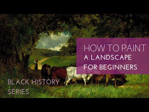 How to paint a Landscape in Acrylics|| For Beginners| Black history series