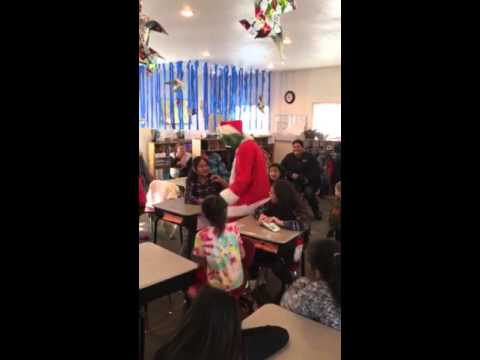 The Grinch visits Lillian Vallely School 2