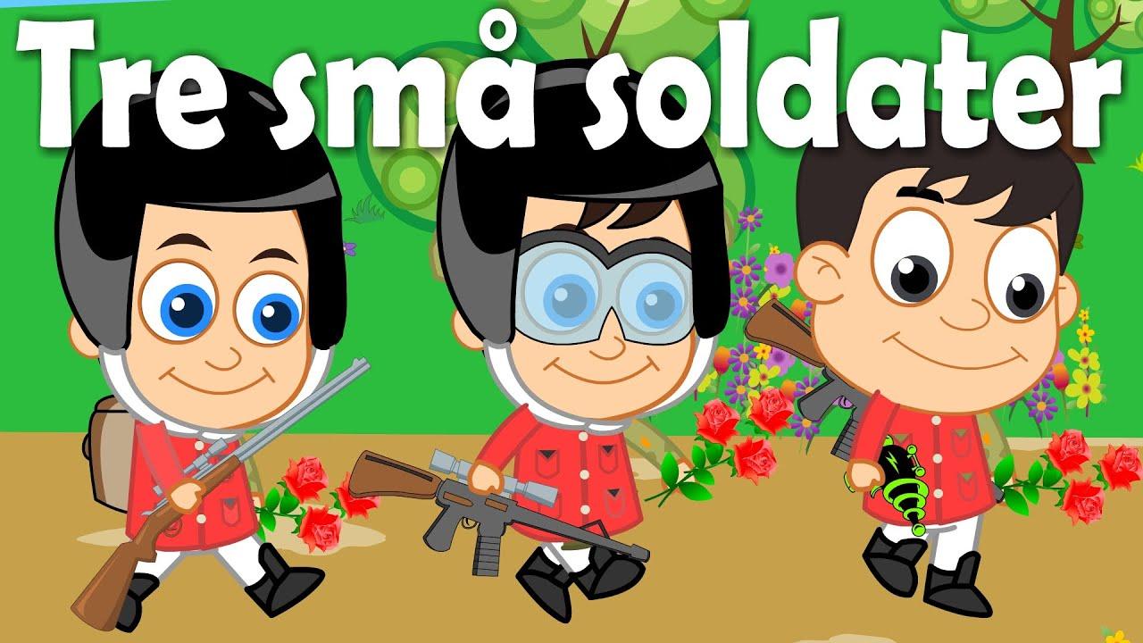 Tre små soldater | 34 minutter mix med tekst | Danske Børnesange