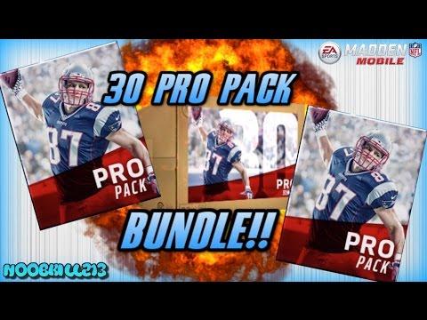 Madden Mobile 17!! 30 PRO PACK BUNDLE!! FIRE ELITE PULL!! - YouTube