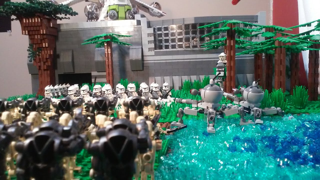 Lego star wars droid attack on clone base huge youtube - Lego star wars base droide ...