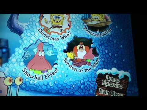 Spongebob Christmas Dvd Menu