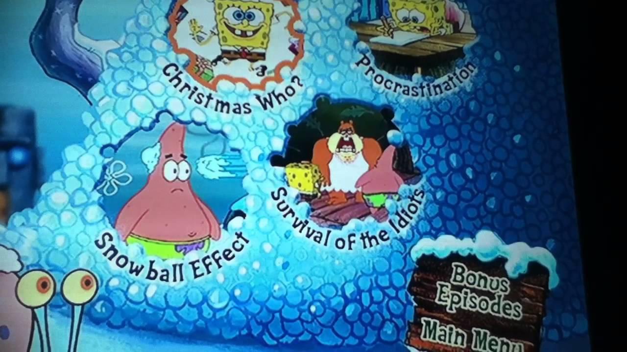 Spongebob Christmas (2003) DVD main menu - YouTube