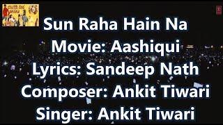 Sun Raha Hai Na Tu Male (Timed Lyrics) English Trans (No Music) Aashiqui 2