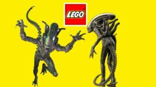 Lego чужехищник, чужой, лицехват, самоделки чужие из лего, lego alien